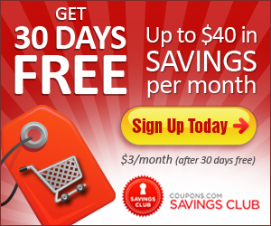 Coupons.com Savings Club Free Trial